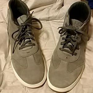 Gray suede high tops,  only worn a couple of times